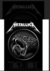 Metallica 'The Black Album' limited edition poster /500 art by Pitchgrim