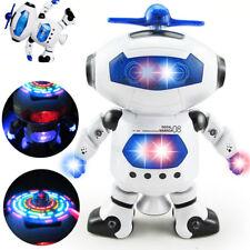 Игрушки для мальчиков и девочек робот Kids ребенка ясельного возраста робот танцующий музыкальная игрушка рождественский подарок