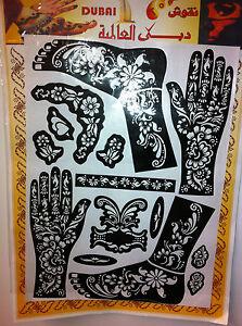 Henna Stencil Mehndi Stencils Arabic/Indian Style Body Art,Fullbody fast shippig