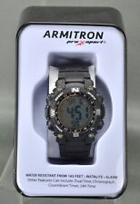 Armitron Pro Sport Women's 45/7099 Digital Chronograph Resin Strap Watch BLK