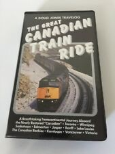 The Great Canadian Train Ride Rare VHS