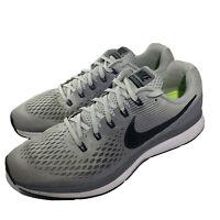 Nike Air Zoom Pegasus 34, Grey/Black, Men's Running Training Shoes, Size 11 US