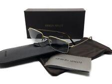 MIB Giorgio Armani Eyeglasses AR5003T 3002 Gold Rimless Titanium Metal 53 19 140