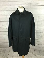 Men's HACKETT Trench Coat - 48R - Navy - Made In Italy - Great Condition