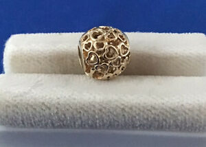 Genuine Pandora ALE 14k 585 Open Hearts Bead Charm