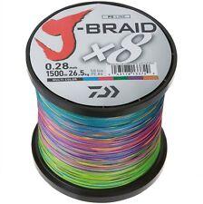 Daiwa J-BRAID x8 0,28mm - Multi Color - 1500m Großspule geflochtene Schnur