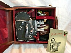 BOLEX PAILLARD H 8 MOVIE CAMERA MANUAL CASE UNTESTED