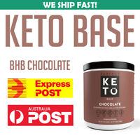 PERFECT KETO BASE Chocolate BHB KETONES 192g SUPPLEMENT ENERGY FUEL KEGENIX