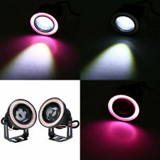 "2X 2.5"" 64mm Projector LED Fog Light Purple Halo Angel Eye Rings For All Car"