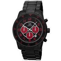 Men's Joshua & Sons JS67RD Red & Black Quartz Chronograph Date Bracelet Watch