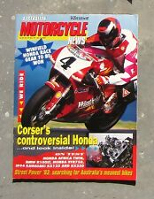MOTORCYCLE NEWS AMCN Nov 1993 - BMW R1100LT OVER TDM 850 VFR 750 V4 KAWASAKI KX