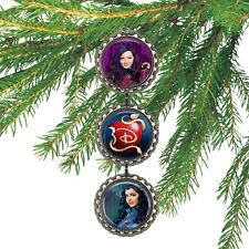 Disney Descendants MAL & EVIE 3D Bottle Cap Christmas Ornament #106
