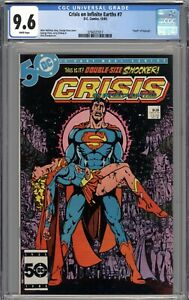 Crisis On Infinite Earths #7 CGC 9.6 NM+ Death of Supergirl WHITE PAGES