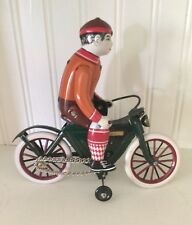 TIN TOY MOTORCYCLE MS374 CLOCKWORK- LITHO WORKS AS IT SHOULD- CHINESE MODERN