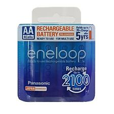 4x Panasonic Eneloop 1900mAh AA Rechargeable Batteries 2100 Cycle Genuine New MP