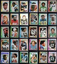 1978 Topps Football Cards Complete Your Set You U Pick From List 201-400