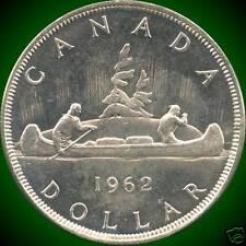 1962 Canada Silver Dollar Coin {23.33 Grams .800 Silver}