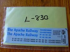 Herald King Decal #L-830 Apache Railway (Diesel Hood)