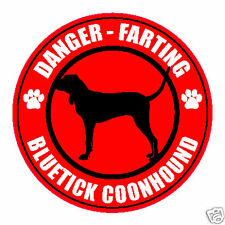 """Farting Bluetick Coonhound Fart 5"""" Dog Sticker"""