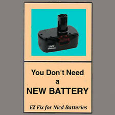 REVIVE-IT guide & video for HITACHI Nicd battery will fix 7.2 12 14.4 18 24 volt