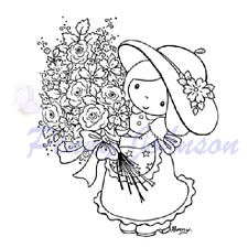 New Stampavie STAR GIRL BOUQUET Penny Johnson clear stamps Flowers