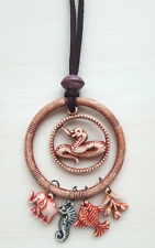 Kette mit verschieden farbigen Tieranhängern NEU Natur Mode Länge ca. 41 cm