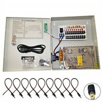 9 Channel Power Supply Box Security Cameras CCTV TECHVIEW 12V 10A TV-PSB910