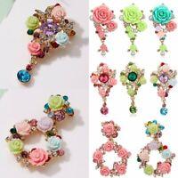 Fashion Pearl Crystal Flower Brooch Pin Women Rhinestone Wedding Party Jewellery