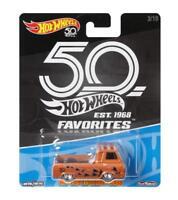 Hot Wheels 50th Anniversary 1:64 Vehicles AMC Ford Volkswagen Datsun Chevrolet