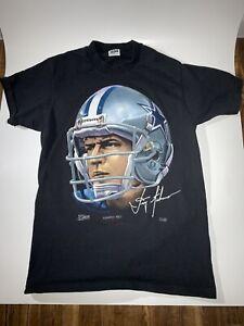 Vintage Dallas Cowboys T Shirt Troy Aikman Anvil Salem Sportswear 1991 Quartback