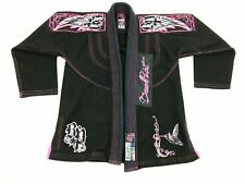 BREAK POINT Gi Tae Kwan Do F1 Black Pink Embroidered Jiu Jitsu Martial Arts
