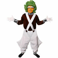 Boys Factory Worker Oompa Loompa Fancy Dress Costume S M L XL Chocolate