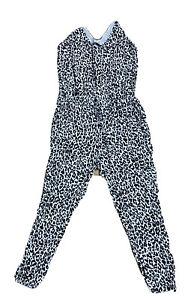 Sportscraft Womens Size 14 Leopard Print Jumpsuit With Pockets