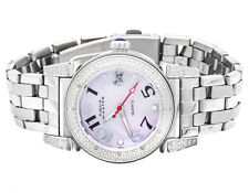 Womens Stainless Steel Aqua Master Morges Pink Mother of Pearl Dial Watch W#88J