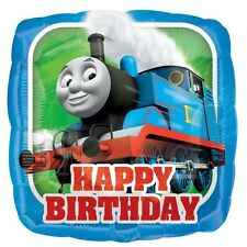 Party Supplies Happy Birthday Boys Thomas The Tank 45cm Square Foil Balloon