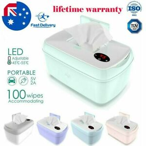 Portable Baby Wipes Warmer Wipe Heater Wet Dispenser Holder Travel Case Box  NEW