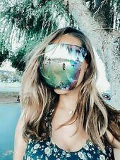 OVERSIZED Huge Big MASK SHIELD FULL FACE Polarized Large MIRROR Sunglasses