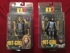 KA2 Hit Girl Action Figure Lot Of 2 from Kick Ass by Neca MOC
