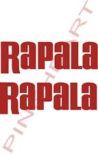 2  Rapala bait decals stickers bass boat tournament sponsor fishing lures USA