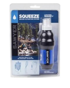 Sawyer Products SP136 Squeeze Water Filtration System w/ Two Pouches Black Blue