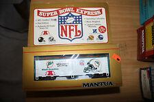 Ho scale Mantua Nfl Reefer car new mint Super Bowl Express Miami Dolpins