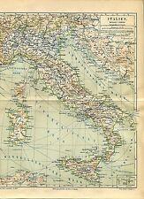 Landkarte Italien  -  Von 1895    (J-BE2)
