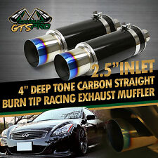 TRACKER PERFORMANCE! 2X N1 THROATY SOUND CARBON EXHAUST MUFFLER + BLUE BURNT TIP