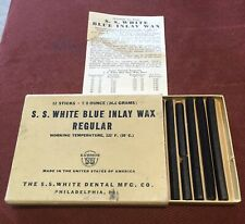 Antique Dental Wax: S.S. White Blue Inlay for Gold Restorations w/ Contents