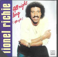 "45 TOURS / 7"" SINGLE--LIONEL RICHIE--ALL NIGHT LONG / WANDERING STRANGER--1982"