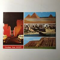 Greetings From Egypt Postcard Collectible Unposted Ephemera Vintage 1970s