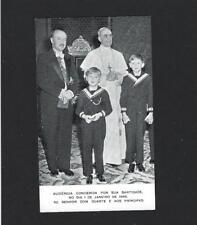 POPE PIUS XII w/Heir throne King Portugal BRAGANÇA.Original vtg memory card 1946