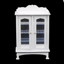Dolls House Miniature Wooden Display Cabinet Kitchen Living Room Furniture