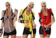 blusa/blusa tejido luz 3 colores:rojo,amarillo,gris tórtola talla 40,42,44
