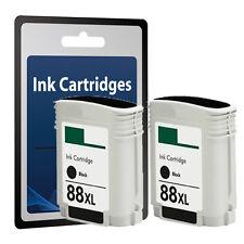 2 Black Ink Cartridge for HP 88XL Pro K5400 K5400DN K5400DTN K550 K550DTN C